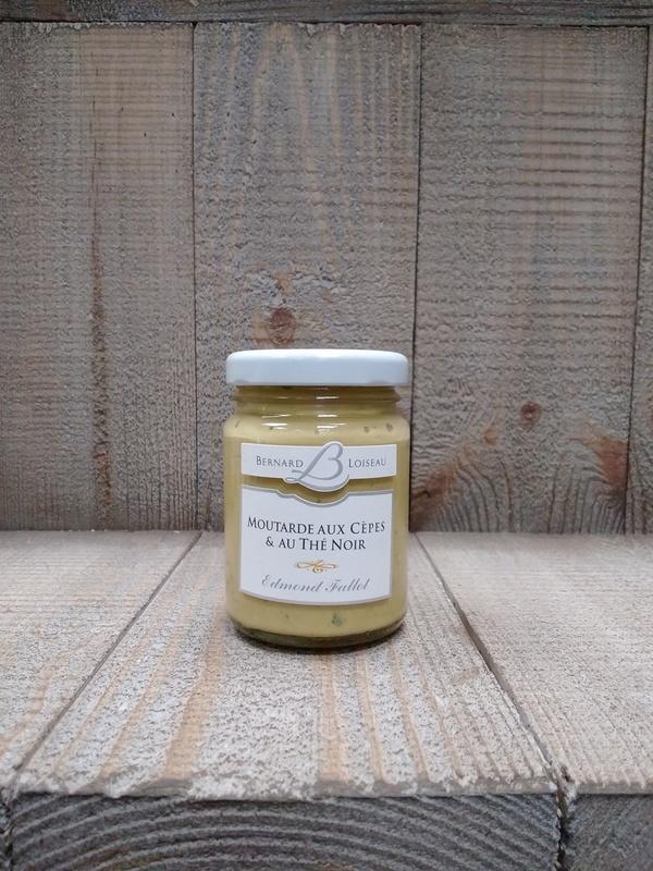 Moutarde aux cèpes & thé noir 100g