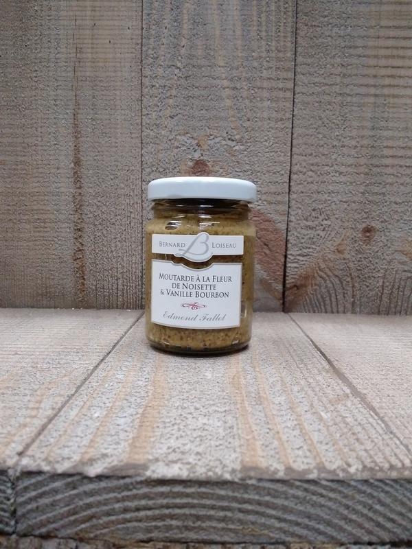 Moutarde à la fleur de noisette & vanille bourdon 100g