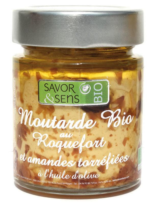 Moutarde au Roquefort et amandes torréfiées