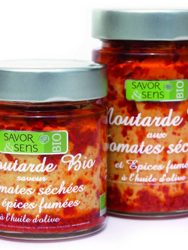 Moutarde bio tomates séchées et épices fumées