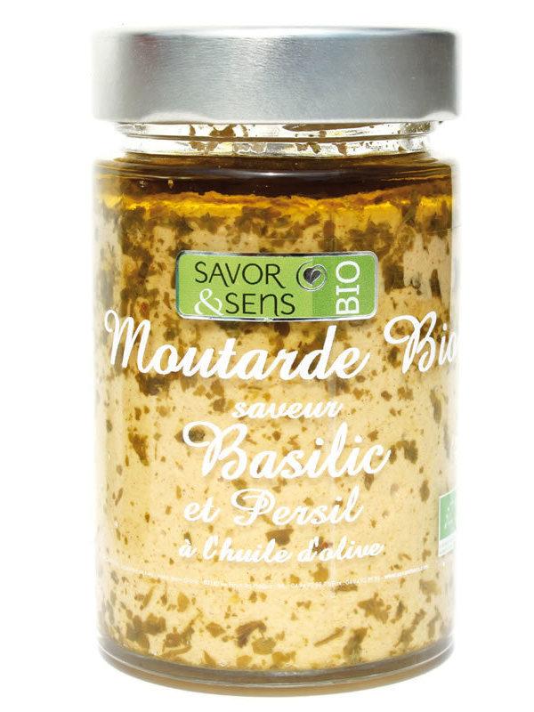 Moutarde saveur basilic et persil